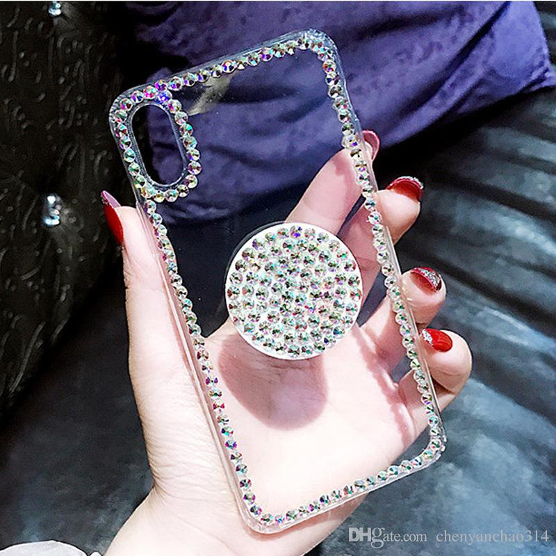 754b8c30f5 Bling Clear Phone Case For Iphone X 8 7 6 6S Plus XR XS MAX Thin ...