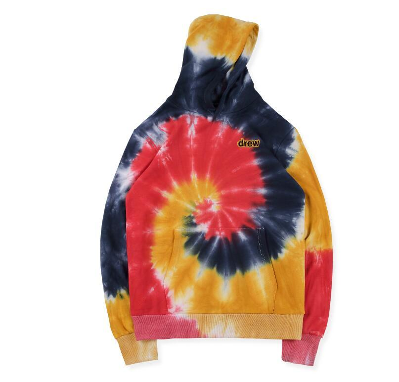 NEW autumn new TRAVIS SCOTT x DSM loose graffiti hand-painted tie-dyed long-sleeved sweater tee S- XL