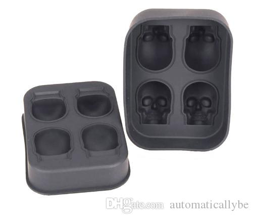 Silicone Mold Whiskey Mould Brick Skull Ice Cube Maker Halloween Tray Party 3D