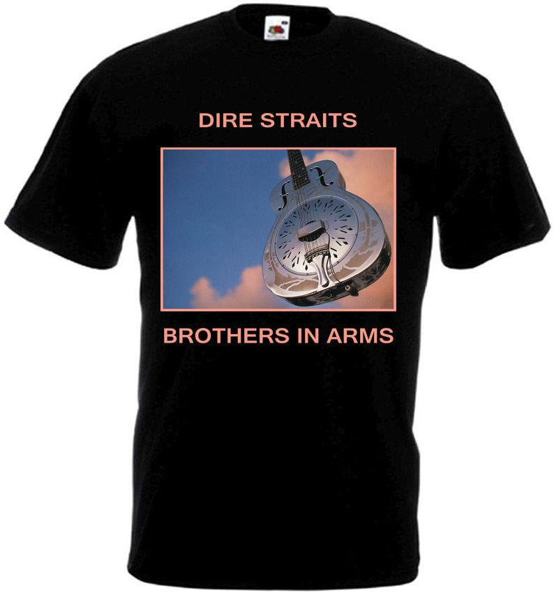 Dire Straits Brothers In Arms Poster Witzige Männer-T-Shirts Street Mode-T-Shirts kühle Logo-T-Shirt aus 100% Baumwolle