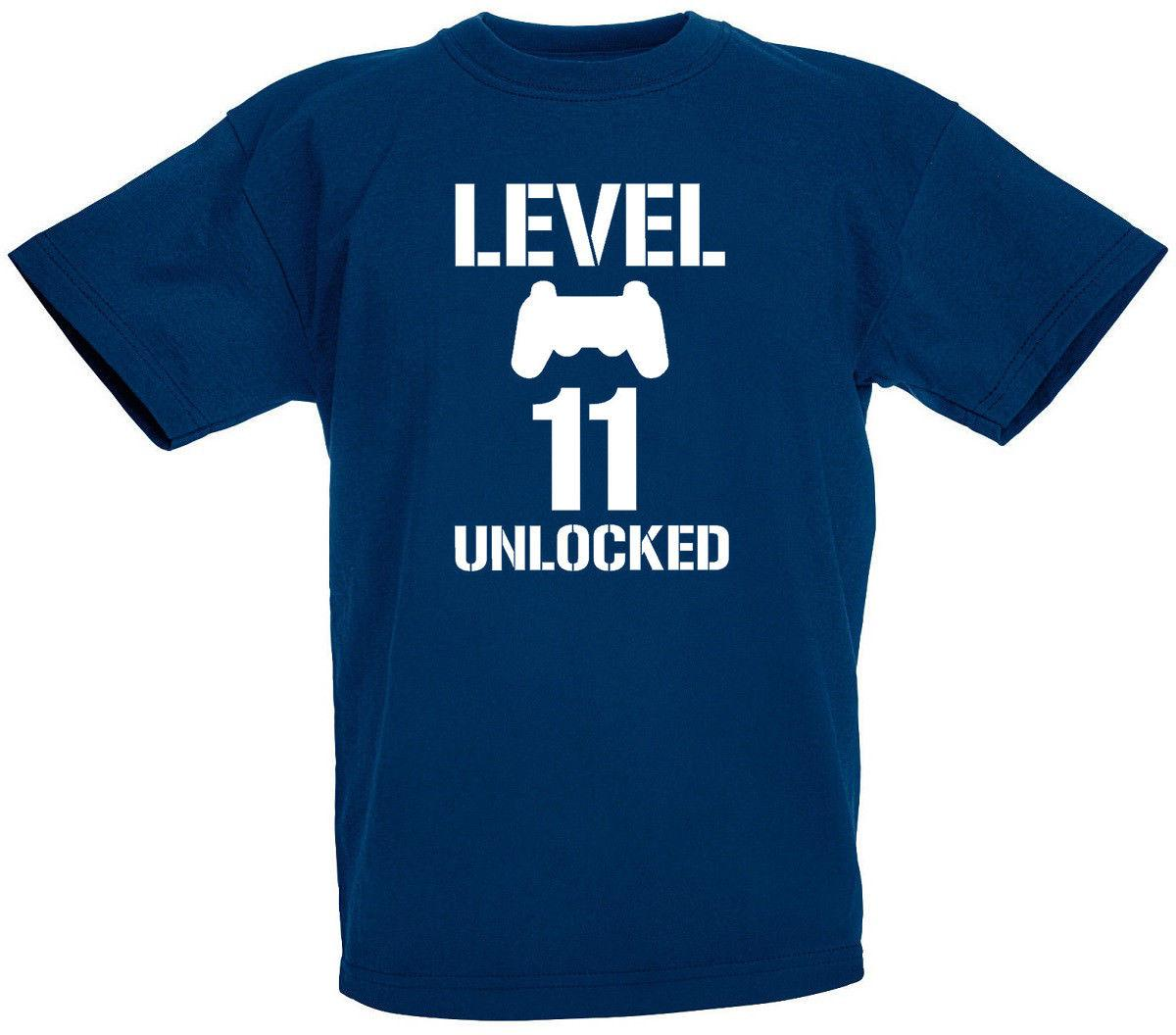 Level 11 Unlocked 11th Birthday Gifts Present Gift T Shirt For Year Old Boys Funny Unisex Tshirt Ridiculous Best Shirts Sites From Stylemixxuk