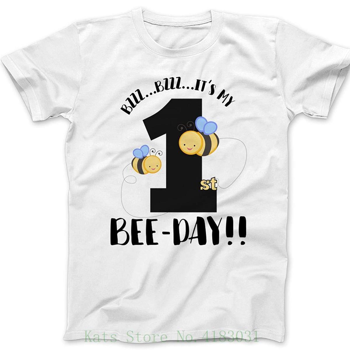 First Birthday Shirt ItS My Bee Day T Discount 100 Cotton For MenS Funny Prints Funky Designs From Jie21