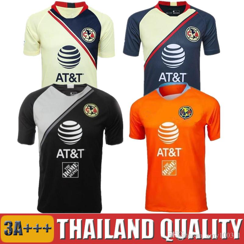 1131a070bd3 2019 2018 2019 Club America Soccer Jersey 18 19 C.BLANCO Third Goalkeeper  Orange D.BENEDETTO R.SAMBUEZA Men Women Kids Football Kit Uniforms From  Amy1003_1, ...