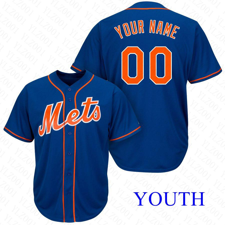 on sale 4dd12 a54d4 Youth Michael Conforto Jersey Custom NY Mets Stitched Mike Piazza Yoenis  Cespedes Robinson Cano Kids Jacob deGrom Baseball Jersey