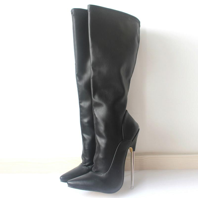 1125bddf944 2019 Sorbern Wild Style Knee-High Soft PU Patent Leather Extreme Thick High  Heel Boot Long Women Knee High Zip Sexy Fetish Shoes