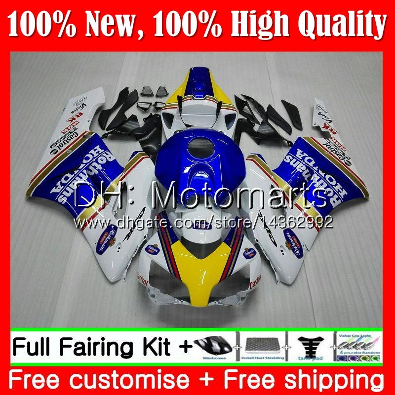 100%Fit Injection For HONDA CBR 1000RR CBR1000 RR 04 05 Kit 51MT16 CBR1000RR 04 05 CBR 1000 RR 2004 2005 Fairing Bodywork Rothmans Blue