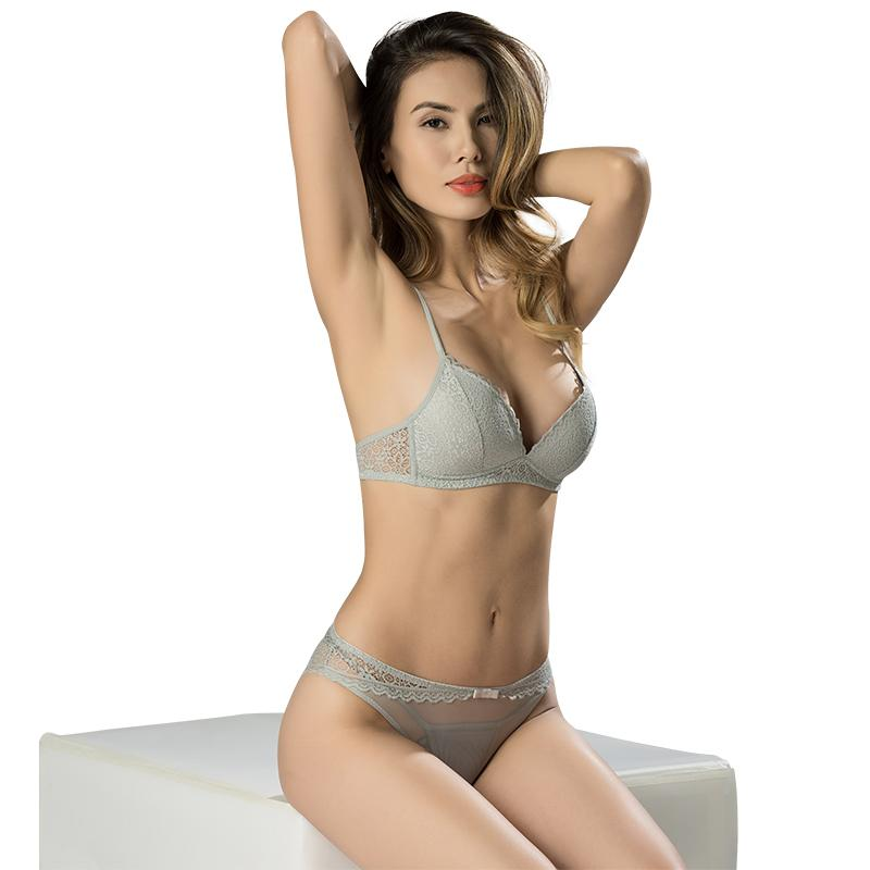 684ab5738e 3 4 Cup Lace Bra Sexy Plunge Intimates Female Underwear Soft Bra for Women  Wireless Sexy Lingerie Online with  25.03 Piece on Chengdaphone02 s Store  ...