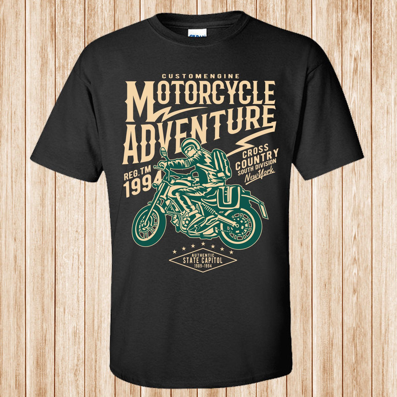 7f0b19b9ab78 Motorcycle Adventure T ShirtFunny Unisex Casual Tee Gift Printed Shirts  Design Shirts From Buttonitbadges, $10.28| DHgate.Com