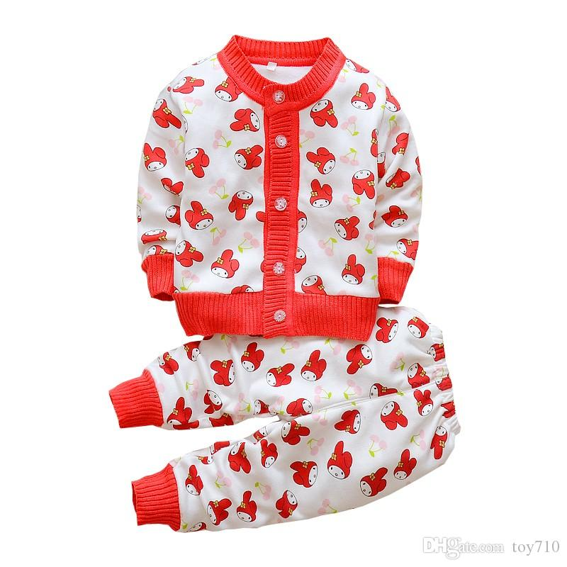 793fd2594d 2019 BibiCola Baby Autumn Winter Clothes Sets Cute Cardigan For Boys Girls  Kids Warm Suit Jacket+Pants Knits Children Sweaters From Toy710