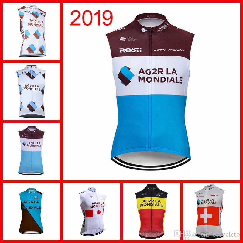 79e332681 AG2R Team Cycling Sleeveless Jersey Vest Summer Mens Bike Wear ...