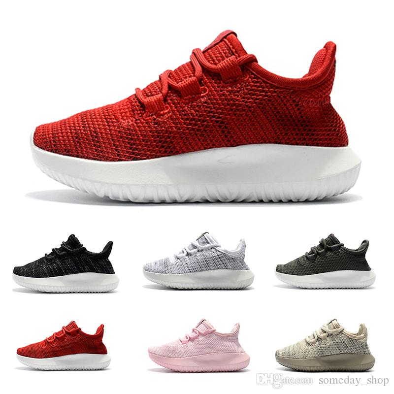 95d26e190fd Baby Kids Run Shoes Kanye West SPLY 350 V2 Running Shoes Children Athletic Shoes  Boys Girls Beluga 2.0 Sneakers Black Red Youth Sneakers Shoes Kids From ...