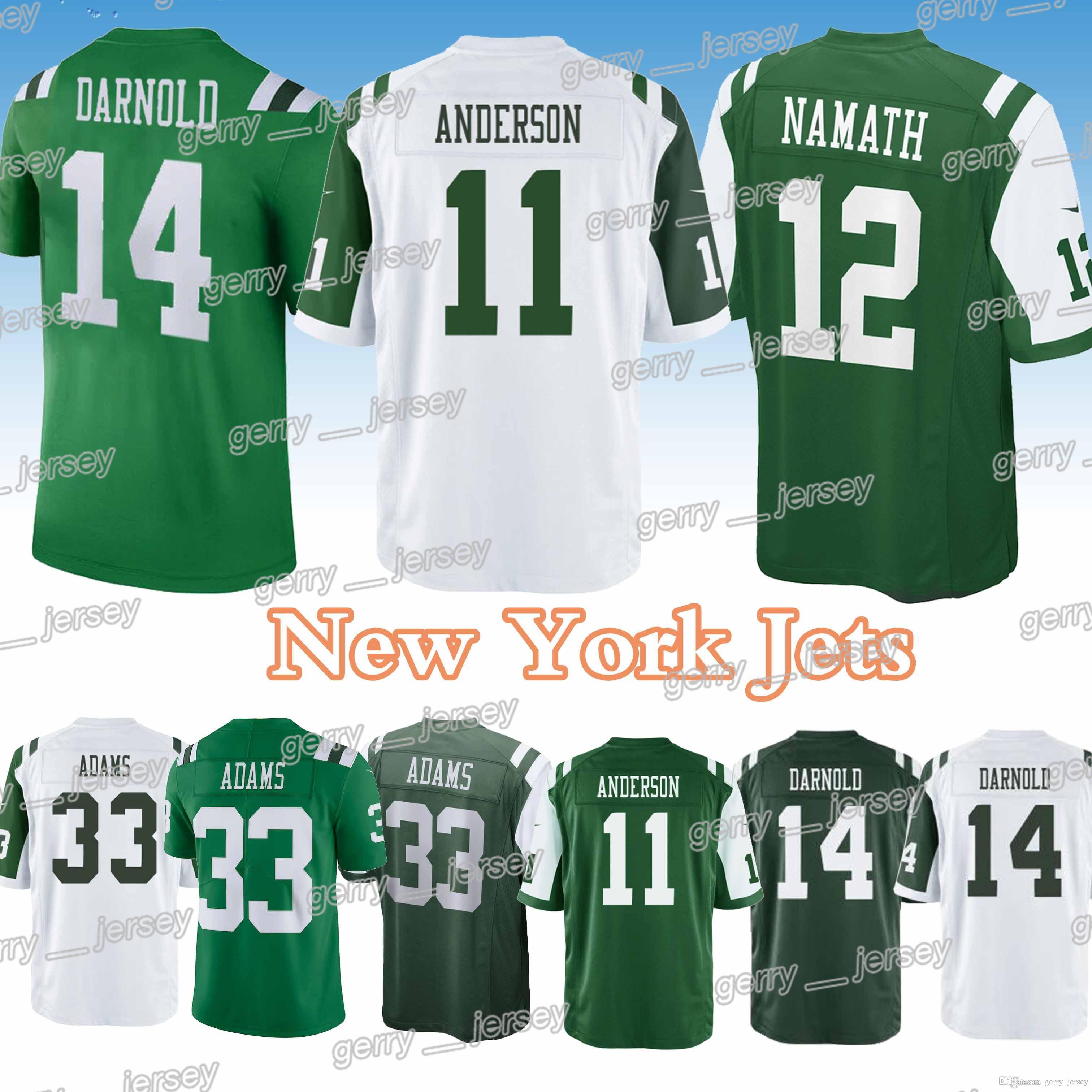 ... netherlands new york jets jerseys 12 joe namath 14 sam darnold 33 jamal  adams high quality 34a3137c7