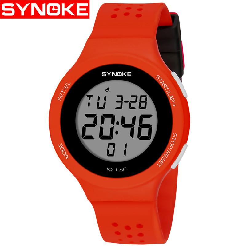 SYNOKE NEW Men's Wrist Watches Multifunctional 50m Waterproof Swimming Man Watch Fashion Sports Digital Watch erkek kol saati