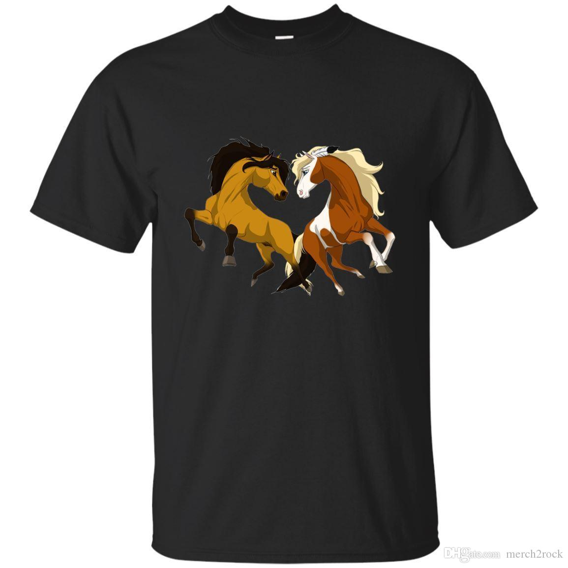 22e25097b49 Kids DreamWorks Spirit Riding Free Spirit Horse T Shirt Black, Navy Men T  Shirts Only Awesome Tee From Merch2rock, $10.95| DHgate.Com