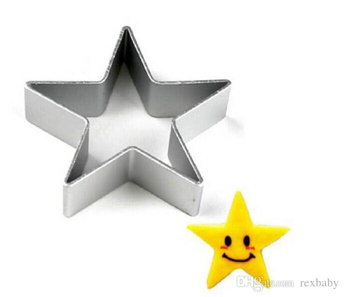 New Star Shaped Aluminium Mold Sugarcraft Biscuit Cookie Cake Pastry Taglierina di cottura Stampo Strumenti di pasticceria Strumenti di cottura