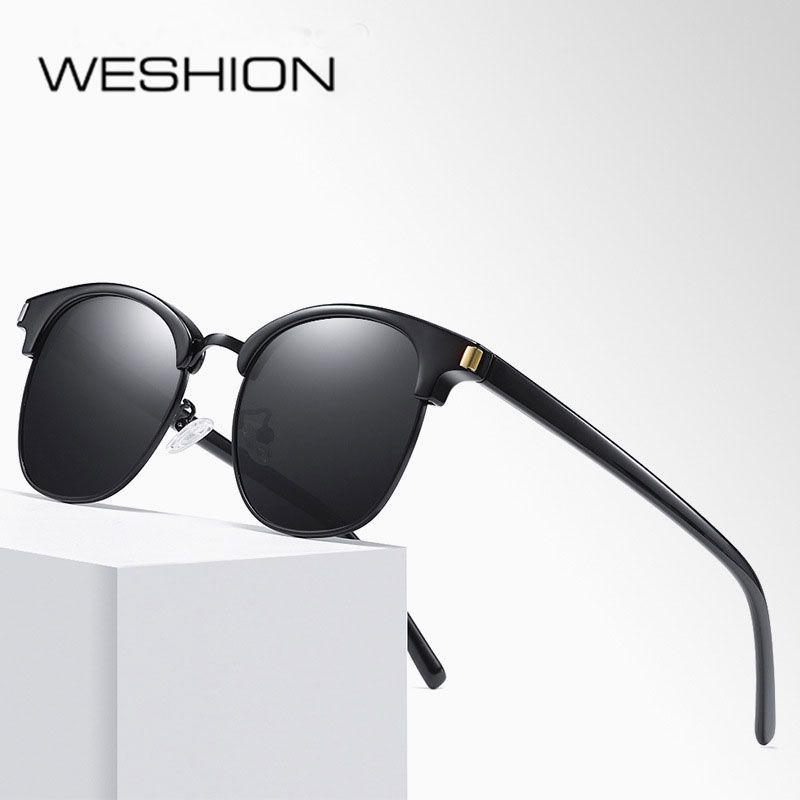 59f827617 Compre Retro Óculos De Sol Das Mulheres Homens Polarizados Oval Senhoras  Marca De Luxo 2018 Masculino Masculino Masculino Óculos De Sol Eyewear  UV400 Gafas ...