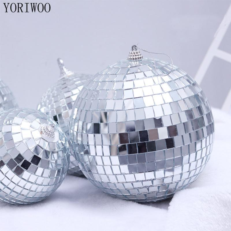 YORIWOO 6pcs Glass Christmas Balls Mirror Ball Ornament Merry Christmas Tree Decorations Birthday Party Xmas Gift New Year 2019