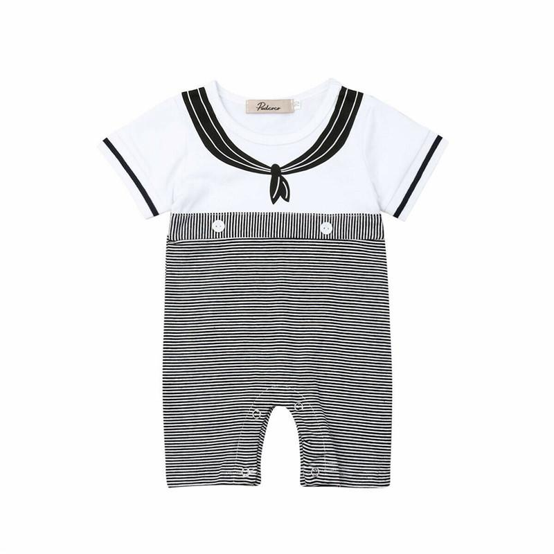 cc6292435b7ef 2019 Infant Newborn Baby Boy Girl Kids Cotton Short Sleeve Striped ...
