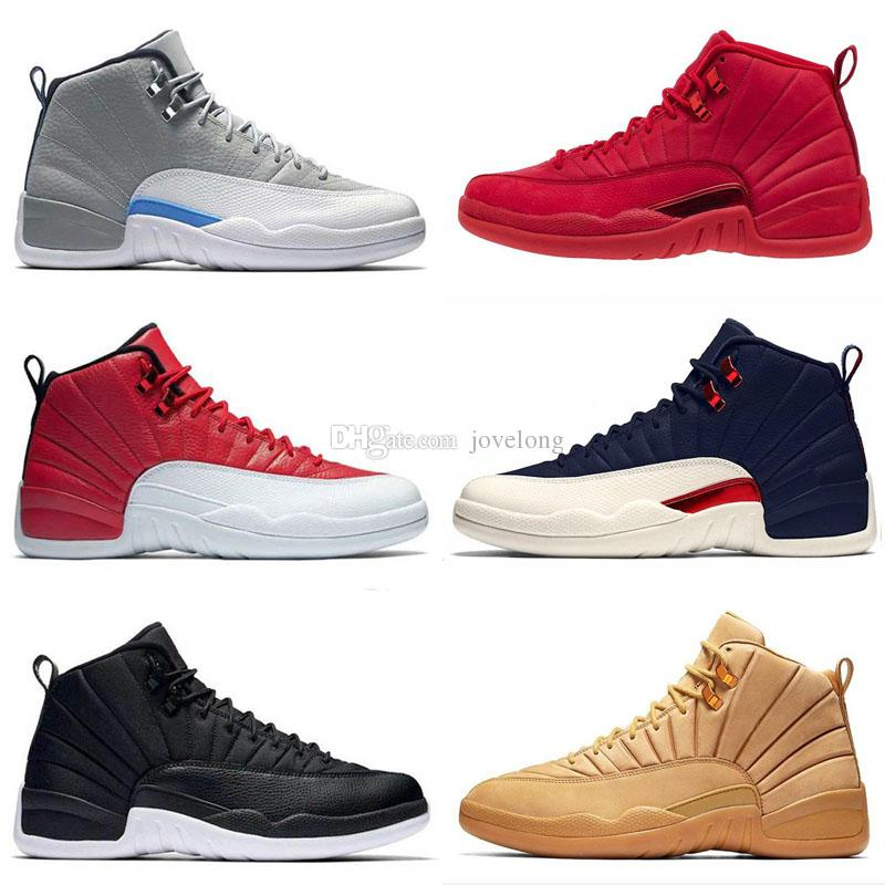 new concept 54546 8b8cb 12 12s Gym red Retro Bulls mens Kids Basketball shoes International Flight  Flu Game Wings Taxi men sports sneakers designer trainers