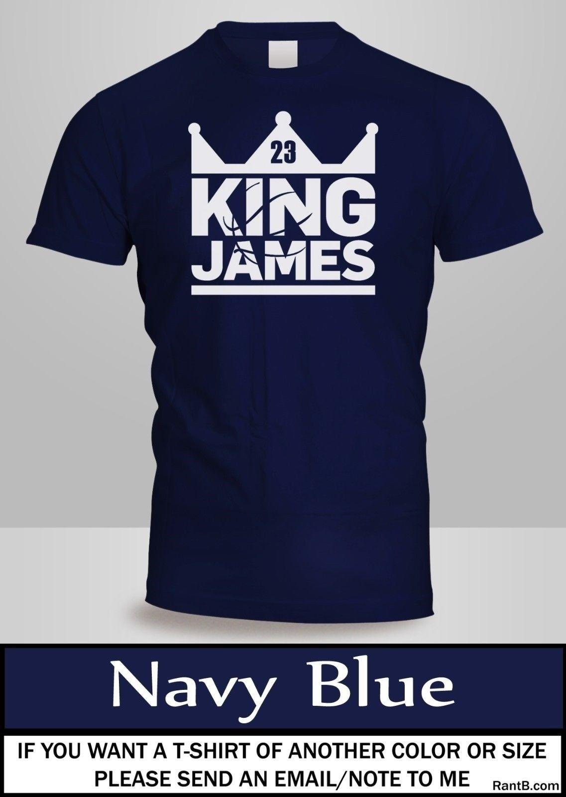 3490110e KING LEBRON JAMES BASKETBALL GRAPHIC T Shirt Mens Navy Colour Tee New  2Funny Unisex Casual Crazy Tee Shirts Novelty T Shirt From Besthappystore,  ...