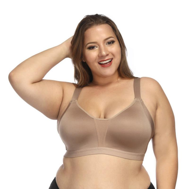 b5948d6bd34 2019 Plus Size Seamless Bra Sexy Big Large Sports Bras Harness Push Up Cup  Sheer Chest Women Sport Seamless Large Size Fitness Vest From Wowsky, ...