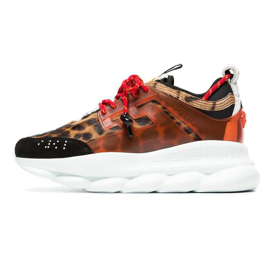 acc62ffcc5 Acheter 2019 Versace Shoes Marque Réaction De Chaîne Haute Qualité De Mode  De Luxe Sneaker Designer Femmes Hommes Medusa Baskets Casual Léger Lien  Embossé ...