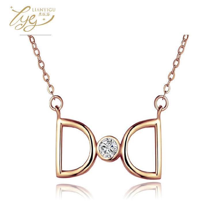 Plating Rose Gold Necklace D Letter Necklace Silver Clavicle Chain Double D Pendant Come From Stars A You With Paragraph