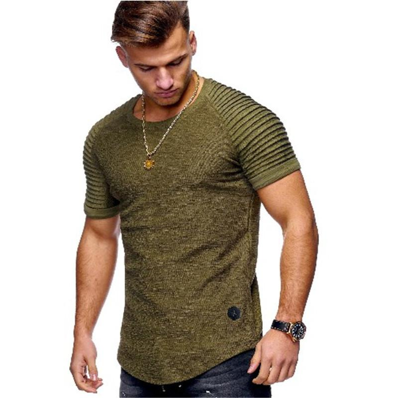 50816366c77c Men Bamboo Fiber T Shirts 2019 Men'S Summer T Shirts Tops Short Sleeve  Cotton Tops Tees Bodybuilding Fold T Shirt Man 3xl Y19042005 Free T Shirts  T Shirts ...