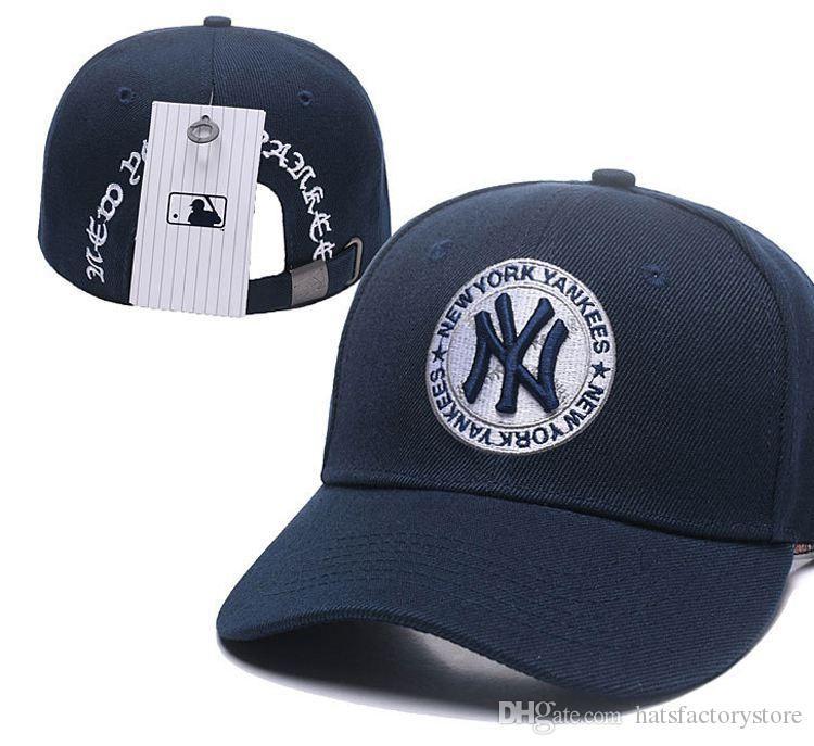 Compre Envío Gratis Logotipo Del Equipo Masculino De Los Sombreros De  Béisbol De NY Logotipo Del Equipo Bordado Gorras De Béisbol Marcas New York  Flat Bill ... 354b85c5c4e