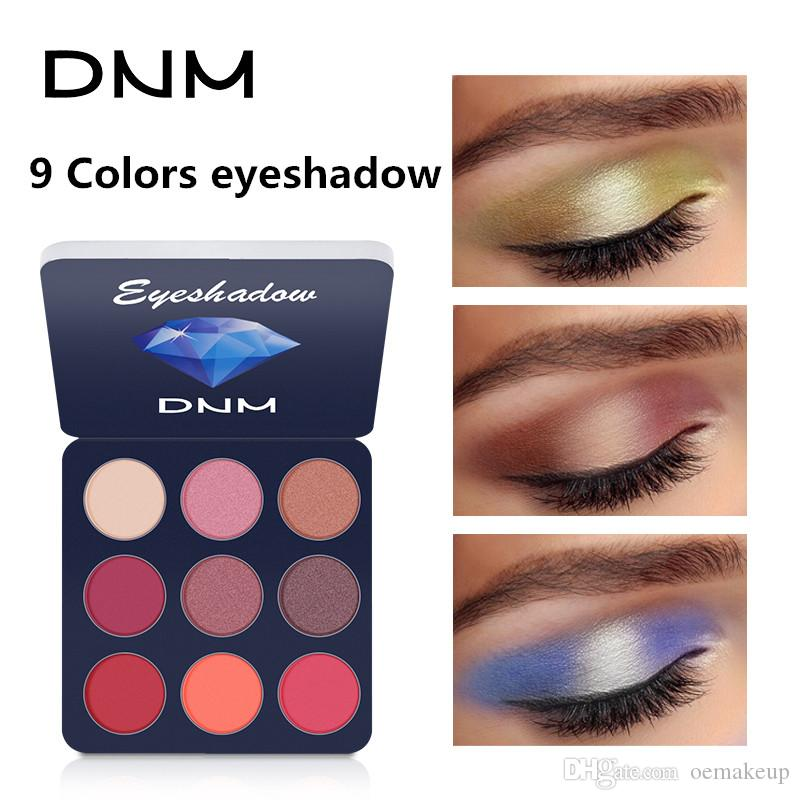 DNM 9 Color/Set Eyeshadow Plate Matte Waterproof Non Glossy Pearl Pumpkin Earth Compact Colorful Eye Shadow Palette Makeup
