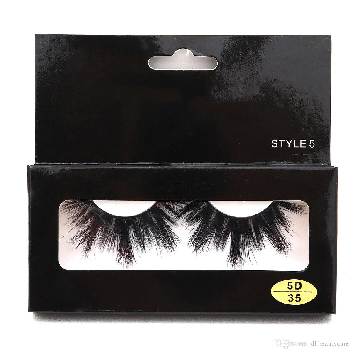 2019 New 5d Mink Lashes Super Thick Natural Long False Eyelashes