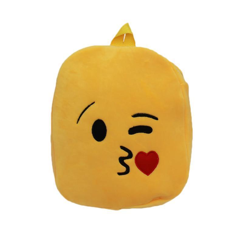 Mini Children Backpacks Cartoon Print Bag Cute Expression Backpack Emoji  Plush Toy Bags School Bag Rucksack For Boy Girl Kid Black Backpack Camera  Backpack ... 09eff20a913bd