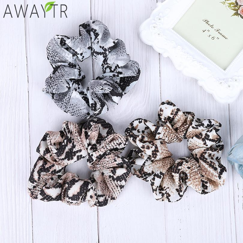 Awaytr Snake Bow Elastic Scrunchies Women Hair Ties Stretch Ponytail Hair Rope Bands Headbands Girl Headwear Hair Accessories Attractive Fashion Apparel Accessories