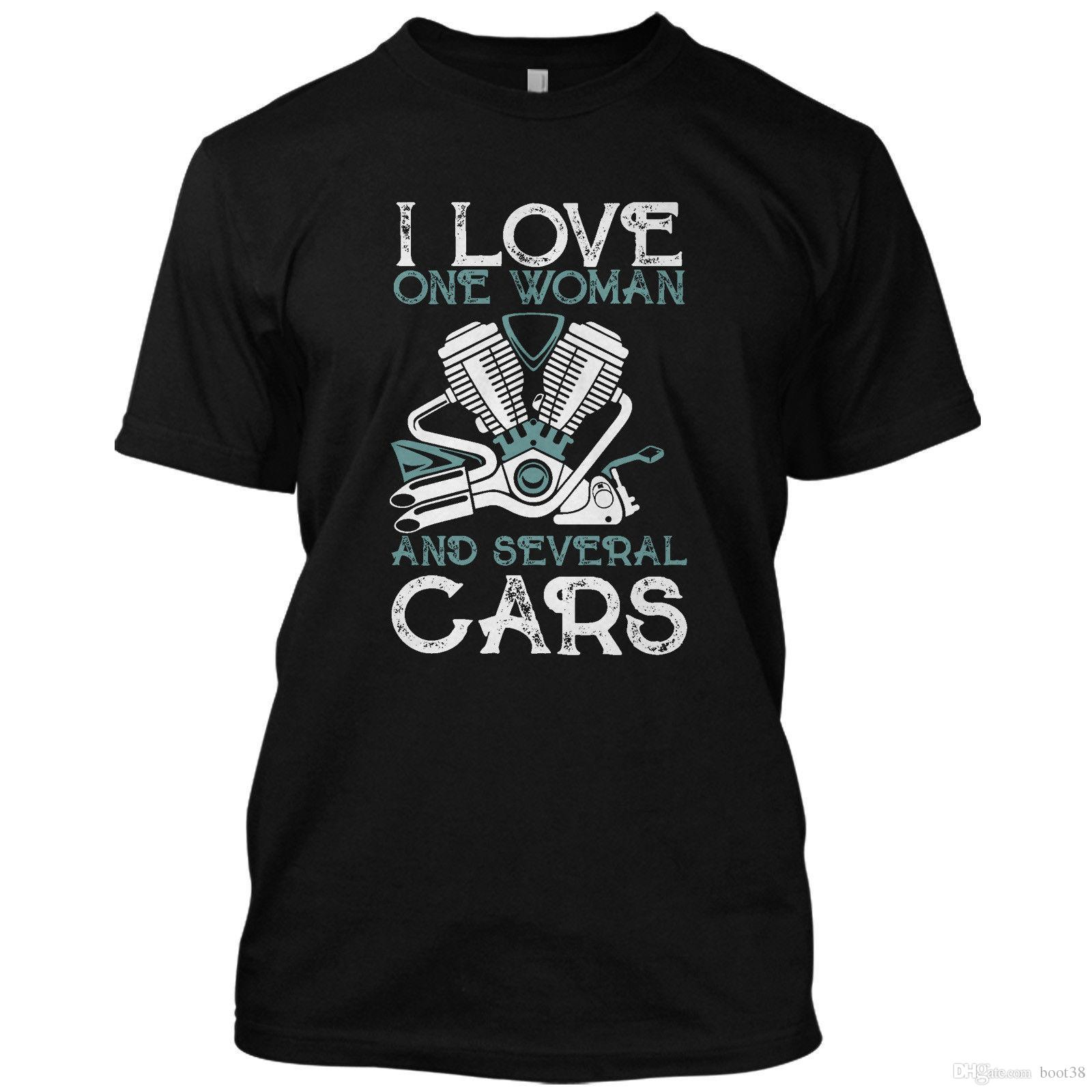f5e5d52ad Mens Designer T Shirts Shirt I Love One Women And Several Cars Funny T  Shirt Graphic Tee Cool T Shirt Buy Shirts Online From Boot38, $5.62|  DHgate.Com