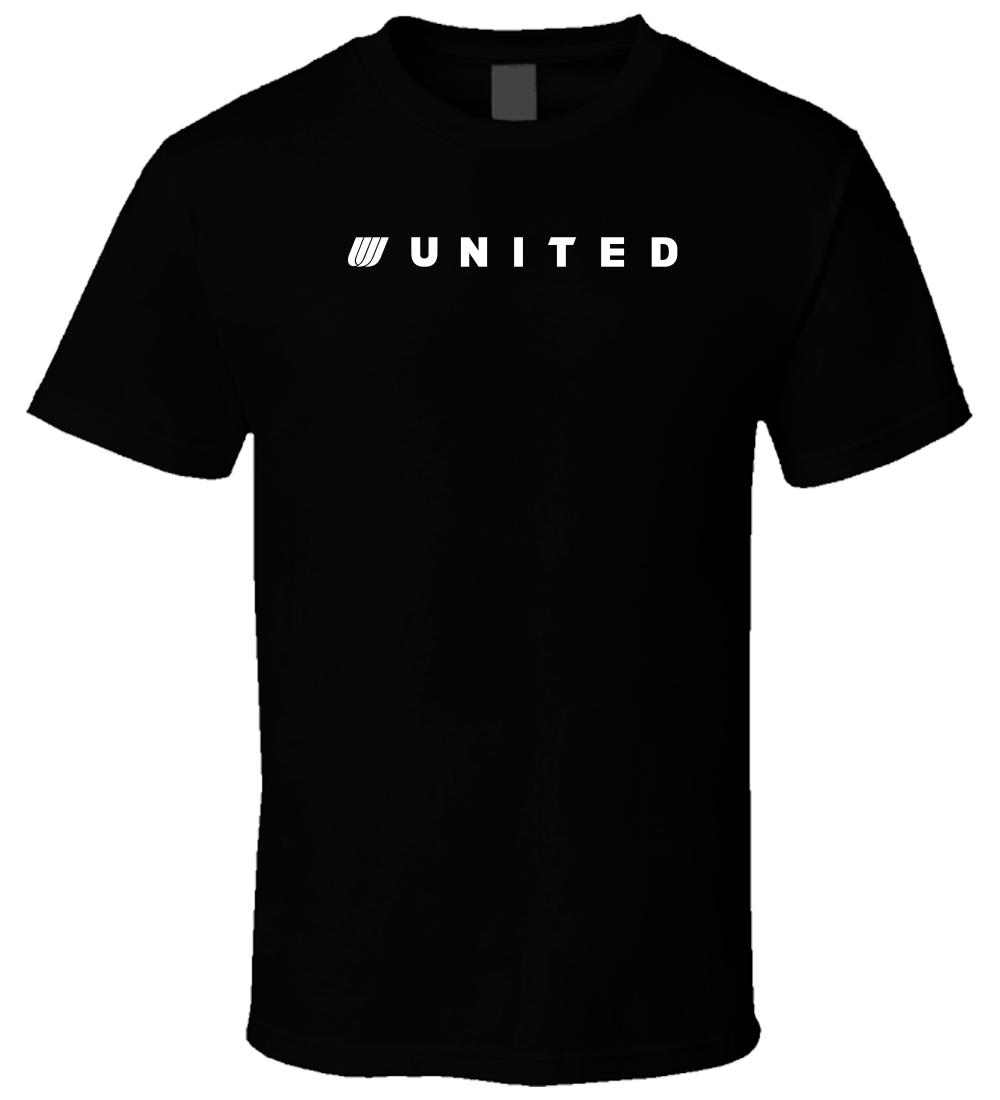 United Airlines Old Logo 3 Black T Shirt Uomo Donna Unisex Fashion tshirt Maglietta personalizzata