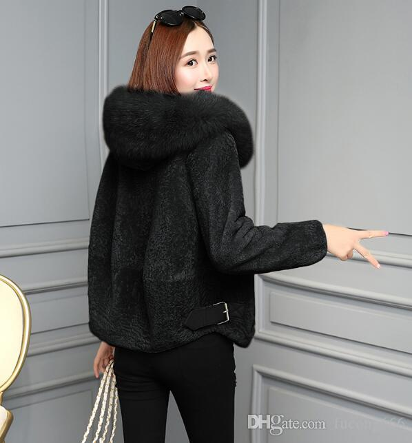 5a1a701c666a0 2019 2019 Winter Fashion Woolen Fur One Warm Jacket Female New Imitation Fox  Fur Collar Short Lamb Lamb Sheep Shearing Fur Coat From Fucong666