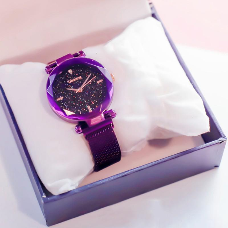 16480201c Starry Sky Simple Women Watch Casual Minimalism Magnet Buckle Business  Watch For Female Rhinestone Quartz Watches Girls Gift Wrist Watches Online  Shopping ...