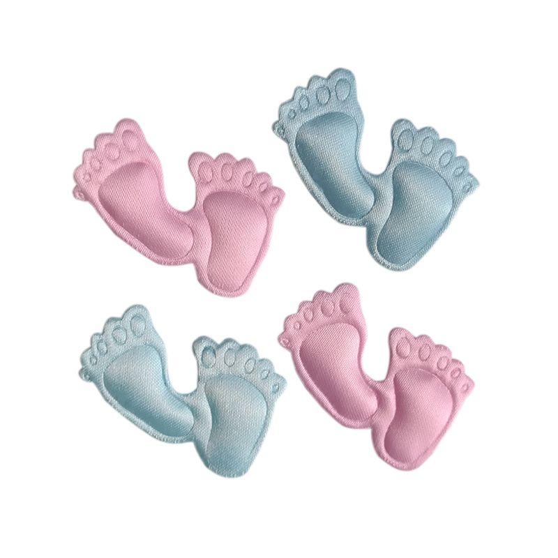 24 STÜCKE Satin füße kleidung applique baby shower party dekoration bevorzugt souvenirs mädchen junge pralinenschachtel zubehör baby sammelalbum