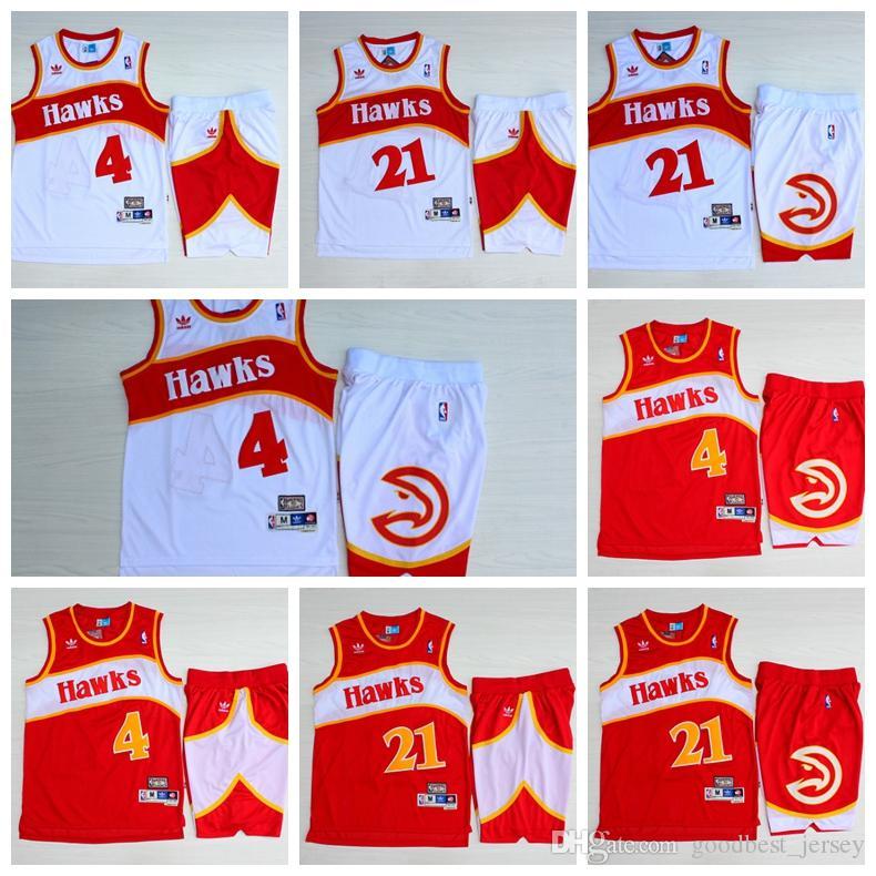 6c9babf213ae 2019 Dominique 21 Wilkins Atlanta ALT Hawks Mitchell   Ness 1986 87  Hardwood Classicss Swingman Basketball Jersey And Shorts From Tt 163