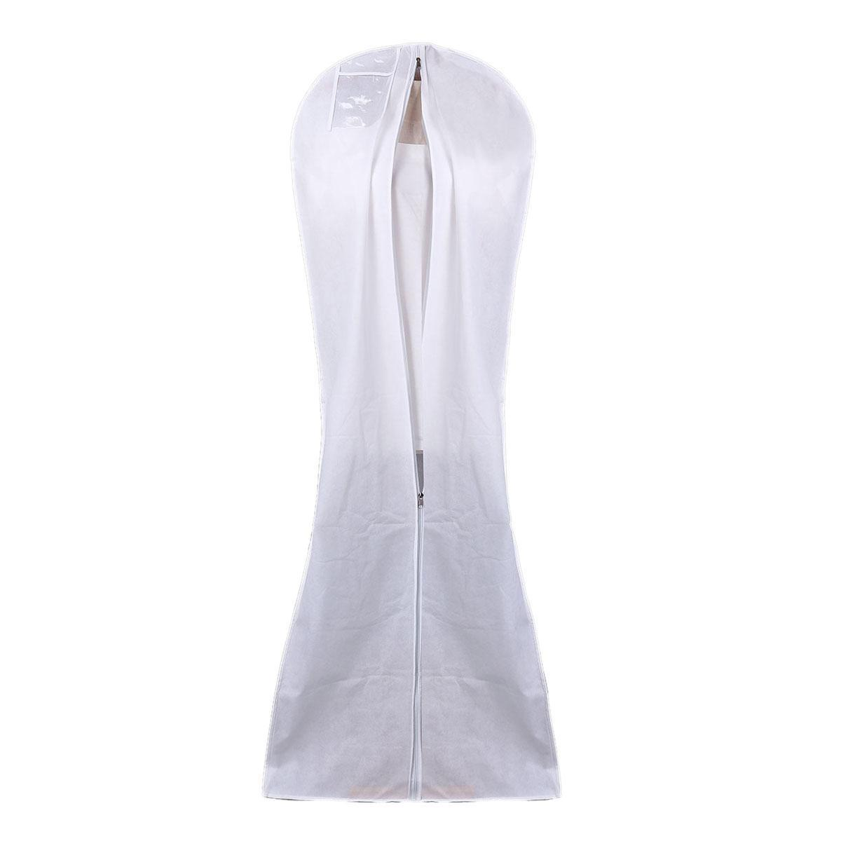 gsfy-hanging wedding dress bridal gown garment cover storage bag carry zip  dustproof white
