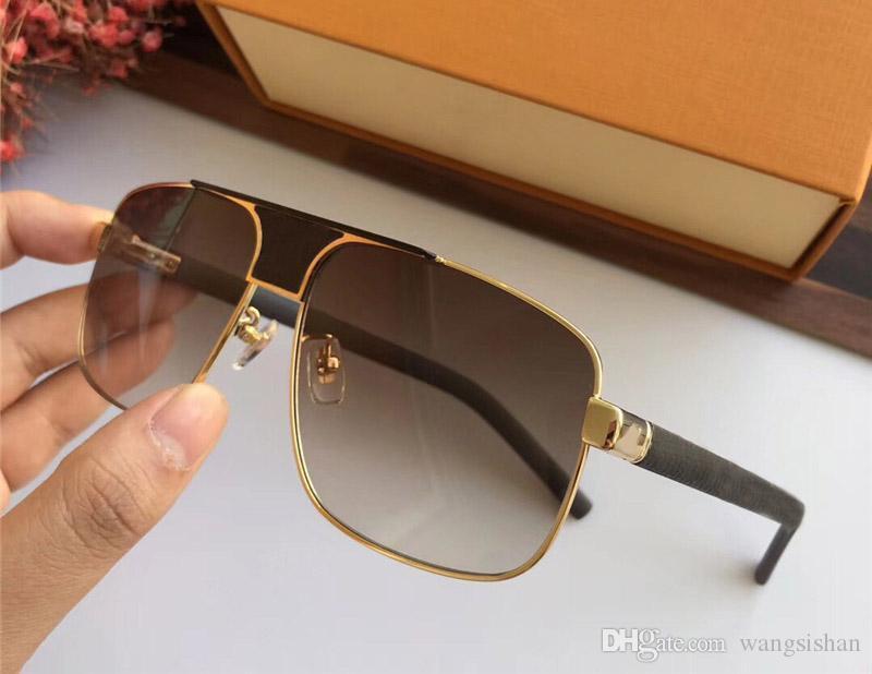 c37fef47d Compre Venda Quente Designer De Marca De Luxo Para Homens Óculos De Sol  Z2338 Retro Quadrado Óculos De Couro Pernas Eyewear Proteção UV400 Vem Com  Pacote De ...