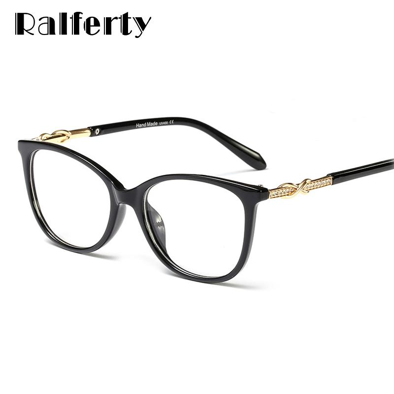 788ec98dfc5 2019 Ralferty 2019 Luxury Crystal Glasses Frames Women Designer Bling  Eyeglasses Frame Optical Myopia Zero Point Clear Glasses F95162 From  Copy04