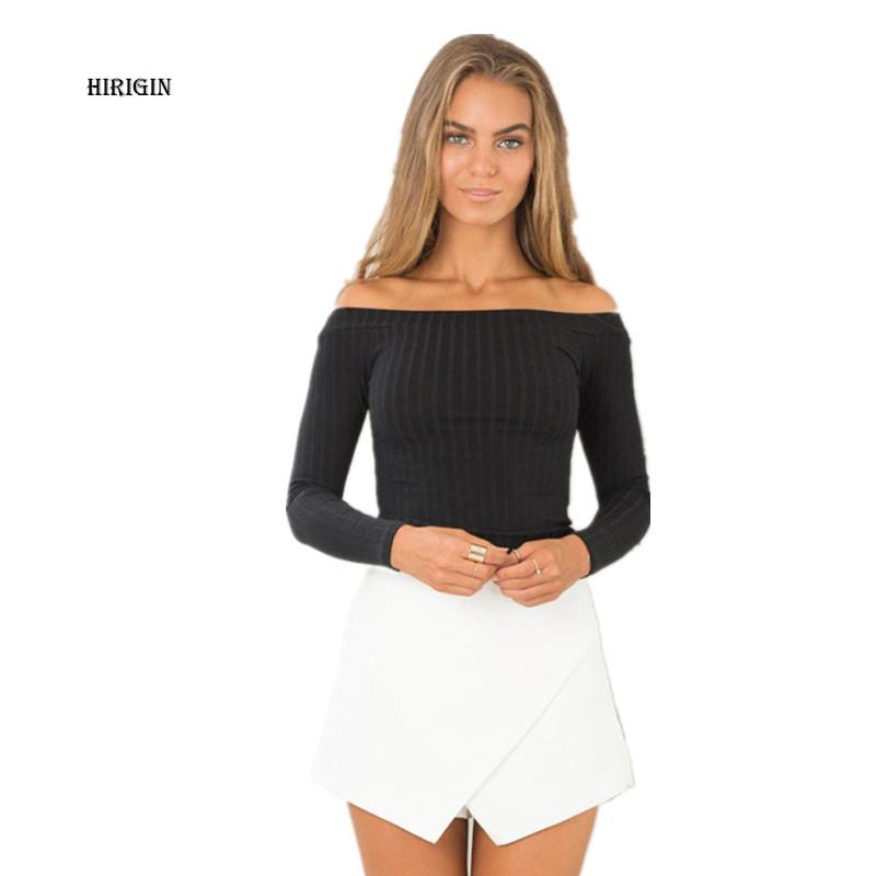 Hot Women Summer Solid Cotton Blouse Shirt Cropped Top Shirt Off Shoulder Tops Blouses