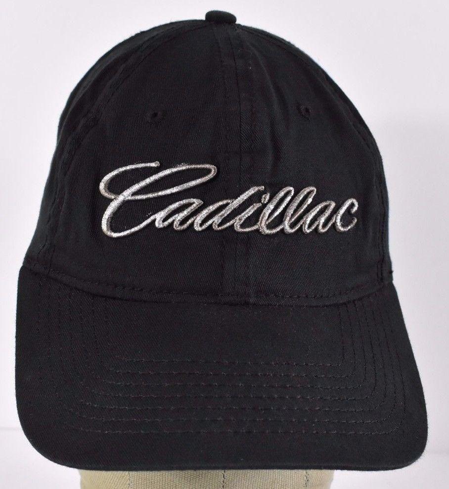 2d01a8170e9a1 Black Cadillac Logo Golf Baseball Hat Cap Embroidery Adjustable ...