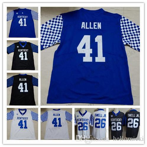 sale retailer b7a92 91abf 2019 Josh Allen Kentucky Wildcats 26 Benny Snell Jr.12 Chance Poore Custom  Any Name Any Number Mens Blue Black White stitched Jersey