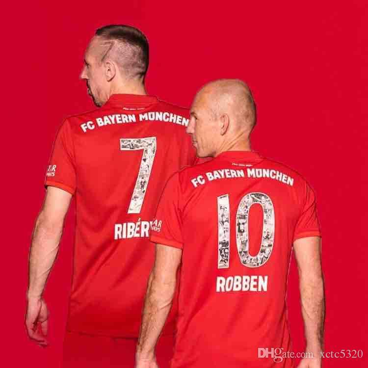 best quality 035cb 8b913 Special Font with RIBERY ROBBEN Bayern 2019 Soccer Jerseys 19/20 Bayern  Munich Popular Football Shirts Customized On Sale Drop shipping