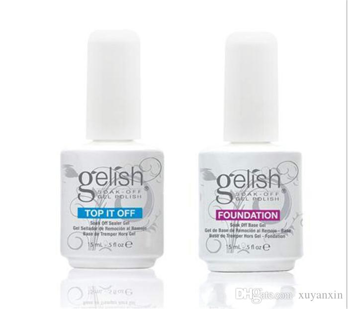 50 pezzi Harmony Gelish polish Top e base coat Soak off LED UV Gel fondotinta per smalto Top it off Nail art