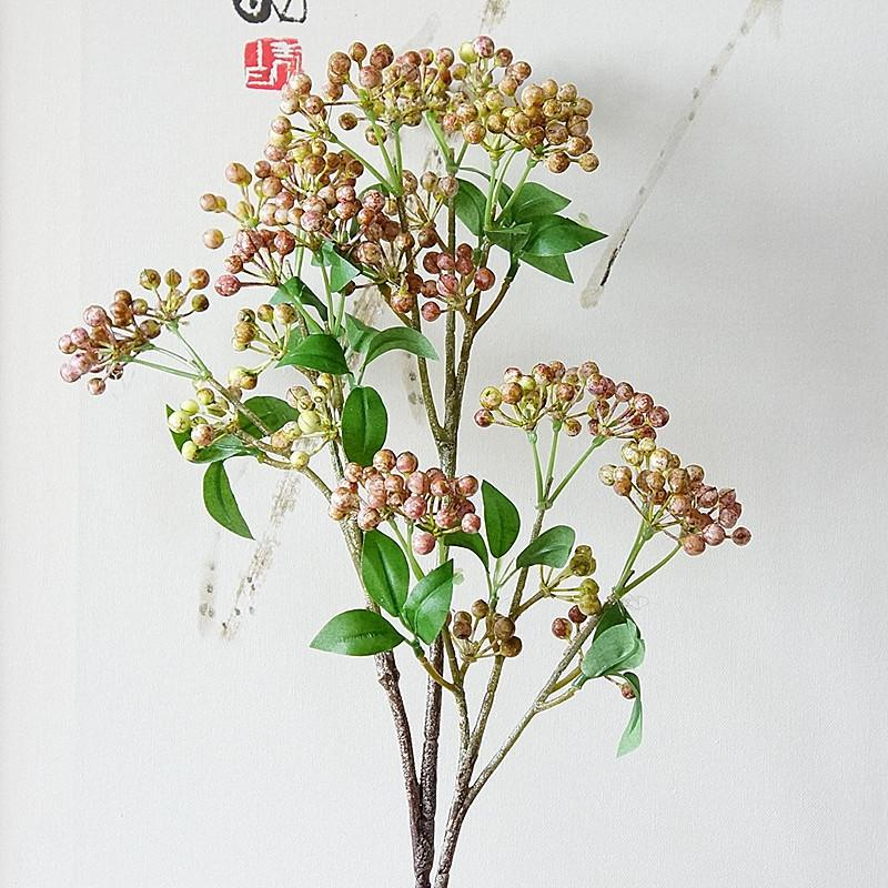 New Berry Fruit Branch Artificial Berries With Leaves For Home Garden Diy  Decoration Fake Flowers Plants Flores Artificiales