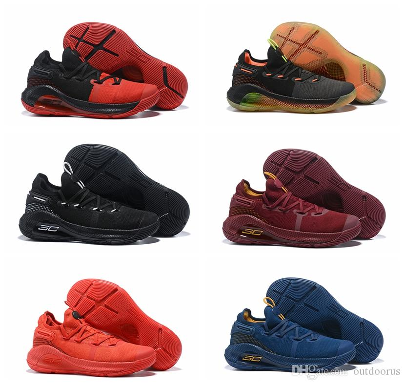 fa9bf629474 2019 Mens Curry 6 Basketball Shoes New Fox Black Green Red Rage Christmas  Blue Stephen Currys Vi Sports Sneakers Boots From Outdoorus