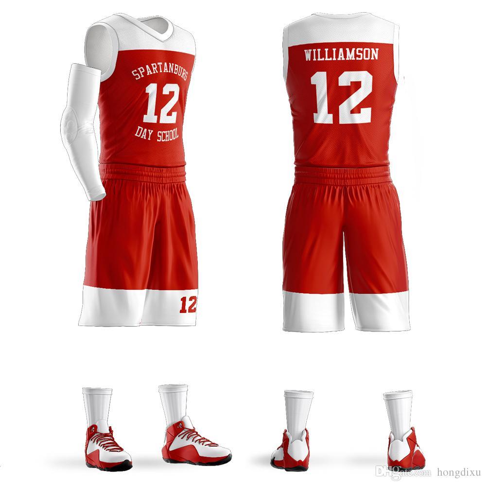 0e0b279c5 Custom Basketball Set Mens Spartanburg Griffins Day Jerseys  12 Zion ...